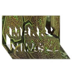 Fractal Complexity 3d Dimensional Merry Xmas 3D Greeting Card (8x4)