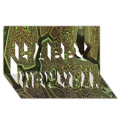Fractal Complexity 3d Dimensional Happy New Year 3D Greeting Card (8x4)