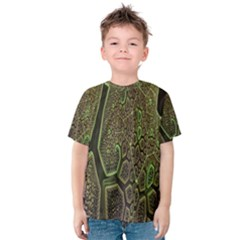 Fractal Complexity 3d Dimensional Kids  Cotton Tee