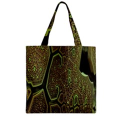Fractal Complexity 3d Dimensional Zipper Grocery Tote Bag