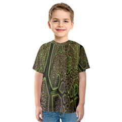Fractal Complexity 3d Dimensional Kids  Sport Mesh Tee