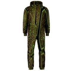 Fractal Complexity 3d Dimensional Hooded Jumpsuit (Men)