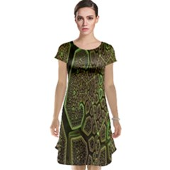 Fractal Complexity 3d Dimensional Cap Sleeve Nightdress