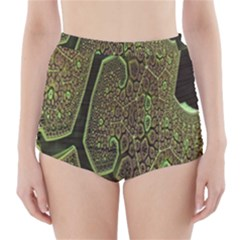 Fractal Complexity 3d Dimensional High-Waisted Bikini Bottoms
