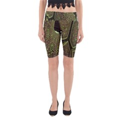 Fractal Complexity 3d Dimensional Yoga Cropped Leggings