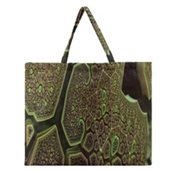 Fractal Complexity 3d Dimensional Zipper Large Tote Bag
