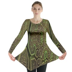 Fractal Complexity 3d Dimensional Long Sleeve Tunic