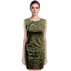 Fractal Complexity 3d Dimensional Classic Sleeveless Midi Dress