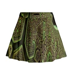 Fractal Complexity 3d Dimensional Mini Flare Skirt