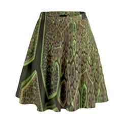 Fractal Complexity 3d Dimensional High Waist Skirt