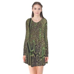 Fractal Complexity 3d Dimensional Flare Dress