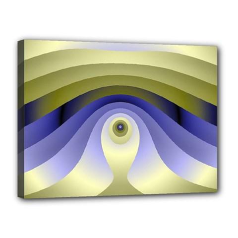 Fractal Eye Fantasy Digital  Canvas 16  x 12