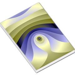 Fractal Eye Fantasy Digital  Large Memo Pads