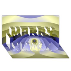 Fractal Eye Fantasy Digital  Merry Xmas 3D Greeting Card (8x4)