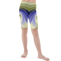 Fractal Eye Fantasy Digital  Kids  Mid Length Swim Shorts