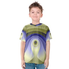 Fractal Eye Fantasy Digital  Kids  Cotton Tee