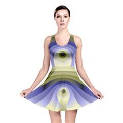 Fractal Eye Fantasy Digital  Reversible Skater Dress