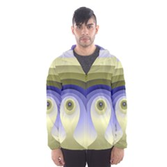 Fractal Eye Fantasy Digital  Hooded Wind Breaker (Men)