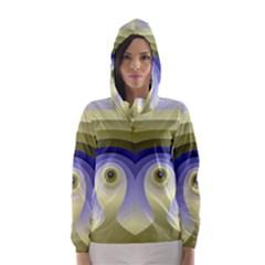 Fractal Eye Fantasy Digital  Hooded Wind Breaker (Women)