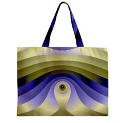 Fractal Eye Fantasy Digital  Zipper Mini Tote Bag