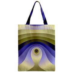 Fractal Eye Fantasy Digital  Zipper Classic Tote Bag