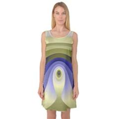 Fractal Eye Fantasy Digital  Sleeveless Satin Nightdress