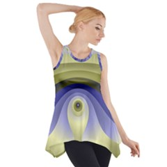 Fractal Eye Fantasy Digital  Side Drop Tank Tunic