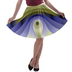Fractal Eye Fantasy Digital  A-line Skater Skirt