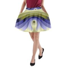Fractal Eye Fantasy Digital  A-Line Pocket Skirt