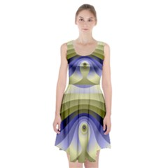 Fractal Eye Fantasy Digital  Racerback Midi Dress