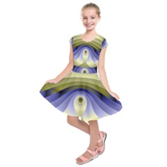 Fractal Eye Fantasy Digital  Kids  Short Sleeve Dress