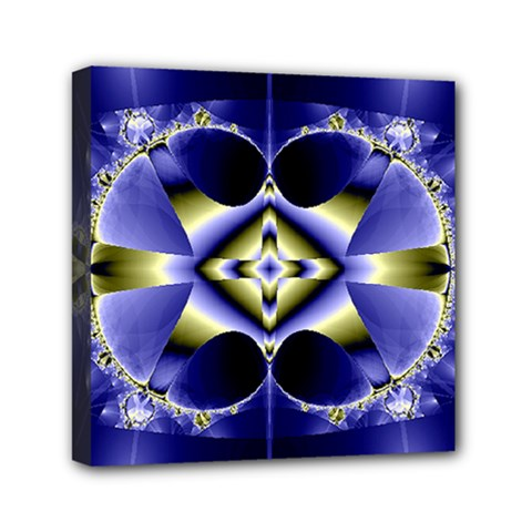 Fractal Fantasy Blue Beauty Mini Canvas 6  x 6