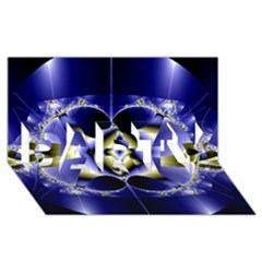 Fractal Fantasy Blue Beauty PARTY 3D Greeting Card (8x4)
