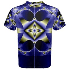 Fractal Fantasy Blue Beauty Men s Cotton Tee