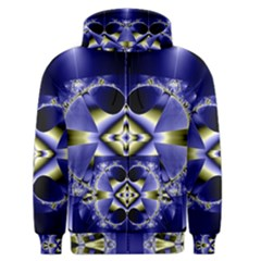 Fractal Fantasy Blue Beauty Men s Zipper Hoodie