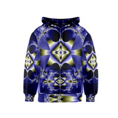 Fractal Fantasy Blue Beauty Kids  Zipper Hoodie
