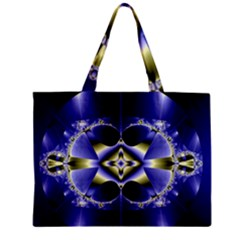 Fractal Fantasy Blue Beauty Zipper Mini Tote Bag