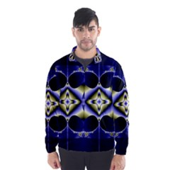 Fractal Fantasy Blue Beauty Wind Breaker (Men)
