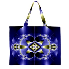 Fractal Fantasy Blue Beauty Large Tote Bag