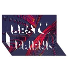 Fractal Fractal Art Digital Art Best Friends 3D Greeting Card (8x4)