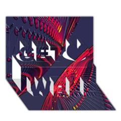 Fractal Fractal Art Digital Art Get Well 3D Greeting Card (7x5)