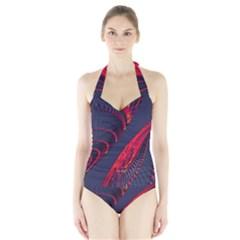 Fractal Fractal Art Digital Art Halter Swimsuit