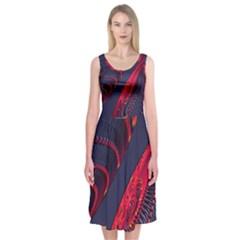 Fractal Fractal Art Digital Art Midi Sleeveless Dress