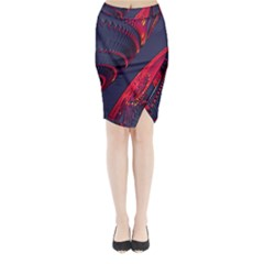 Fractal Fractal Art Digital Art Midi Wrap Pencil Skirt