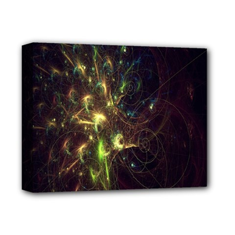 Fractal Flame Light Energy Deluxe Canvas 14  x 11