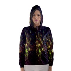 Fractal Flame Light Energy Hooded Wind Breaker (Women)
