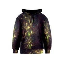 Fractal Flame Light Energy Kids  Zipper Hoodie