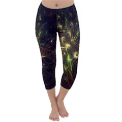 Fractal Flame Light Energy Capri Winter Leggings
