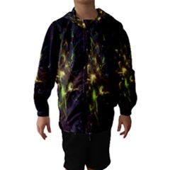 Fractal Flame Light Energy Hooded Wind Breaker (Kids)