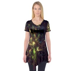 Fractal Flame Light Energy Short Sleeve Tunic